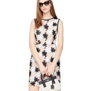kate spade Tiger Lily Blush Flower Lace Dress 0